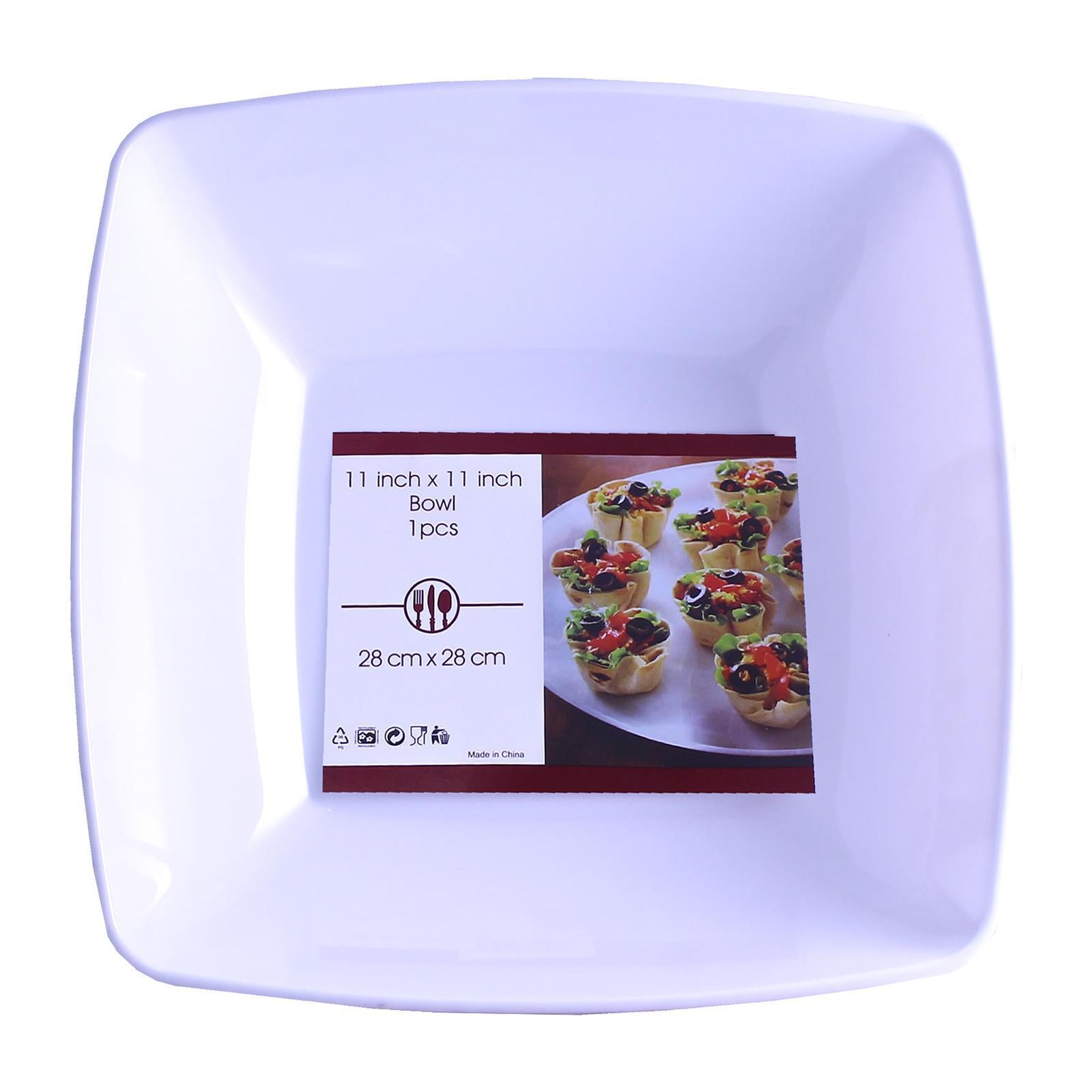 Partyforte 1 PCS Premium Disposable Plastic Tableware - 11 Inch Salad Bowl