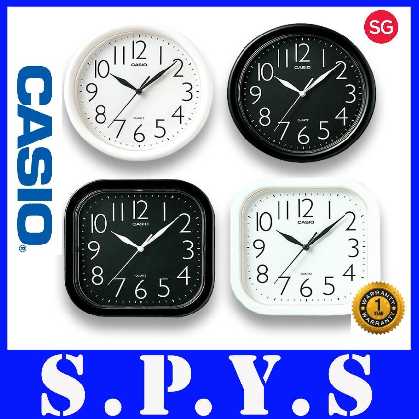 Casio Wall Clock. Model: Casio IQ-01S and Casio IQ-02S. Available in White and Black. Available in Square and Circle. Local SG Seller. Full Warranty. Buy With Confidence.