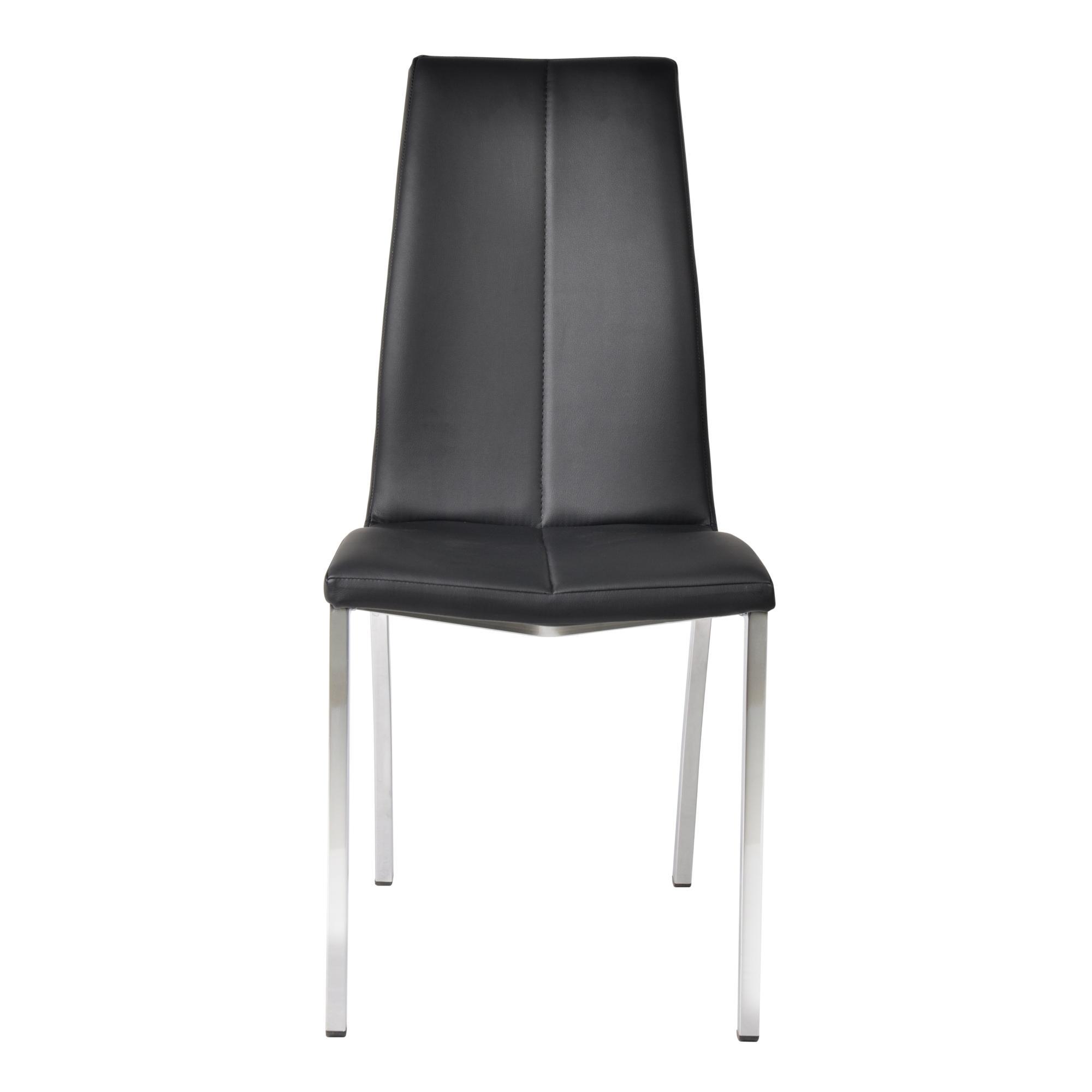Milo II Dining Chair, Set of 2 (Black/Chrome)