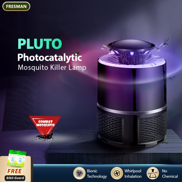 PLUTO Photocatalytic Mosquito Killer Lamp With Power Suction Insect Trap, USB Power Bionic UV Lamp Bug Zappers
