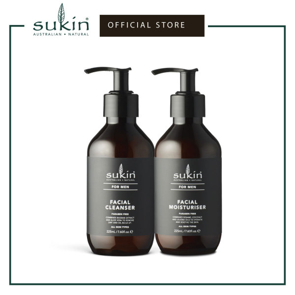 Buy Sukin Men Facial Cleanser + Facial Moisturiser Singapore