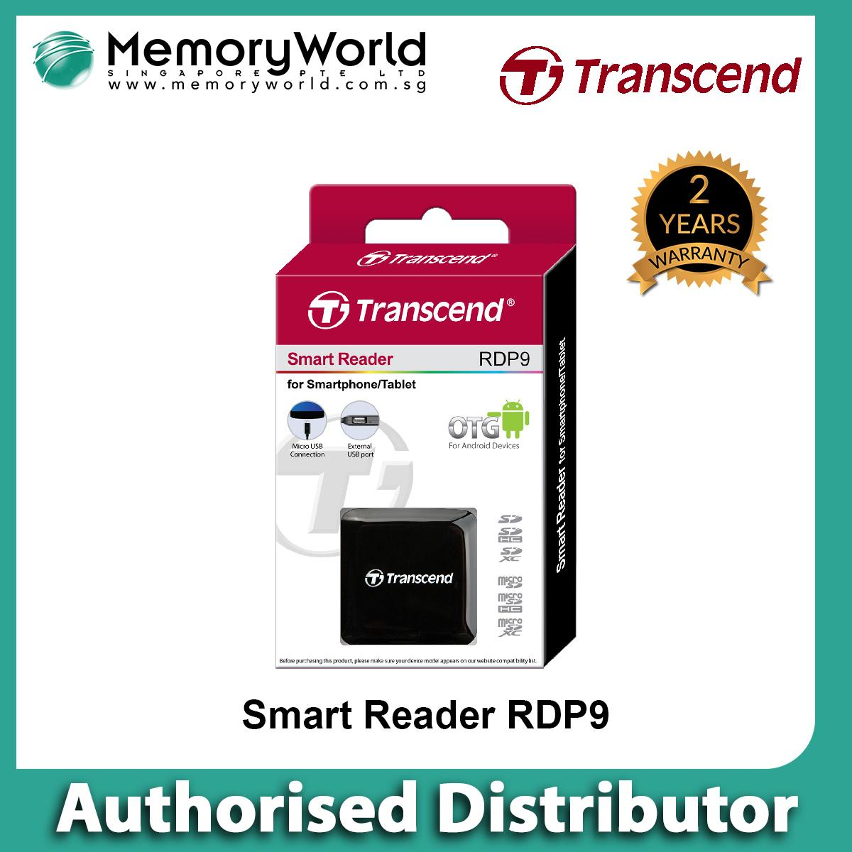 Transcend Smart Reader TS-RDP9K (OTG) - Android . Warranty: 2 years. Local Singapore Warranty. **TRANSCEND Authorised Distributor **