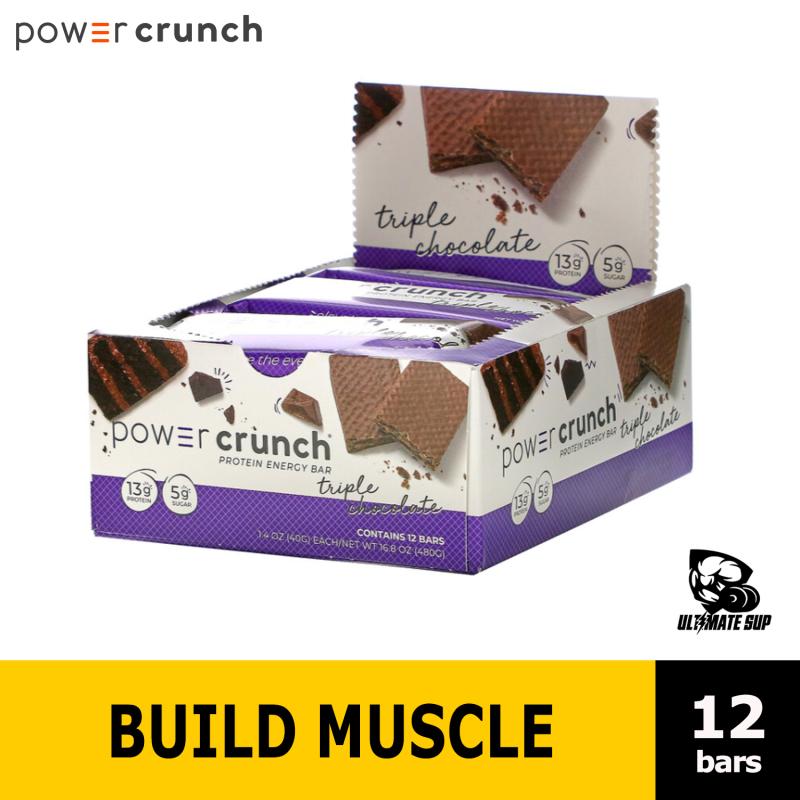 Buy BNRG, Power Crunch Protein Energy Bar, Triple Chocolate, 12 Bars, 40g Each, 13g Protein Bar Singapore