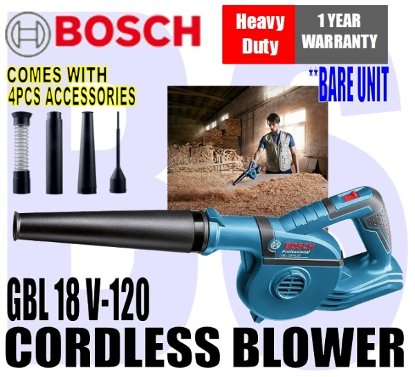 [BIRTHDAY SALE] BANSOON BOSCH GBL 18V-120 Cordless Blower. Comes with 4pcs accessories. 1 year warranty. BARE UNIT OR SET WITH BATTERY & CHARGER