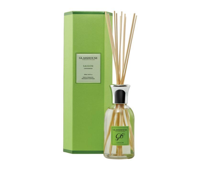 GlassHouse Fragrances Triple Strength Fragrance Diffuser 250ml - SAIGON