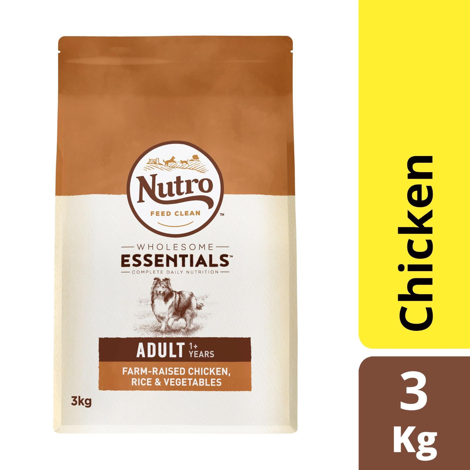 Nutro Wholesome Essential Dog Chicken Rice And Vegetable Dry Dog Food