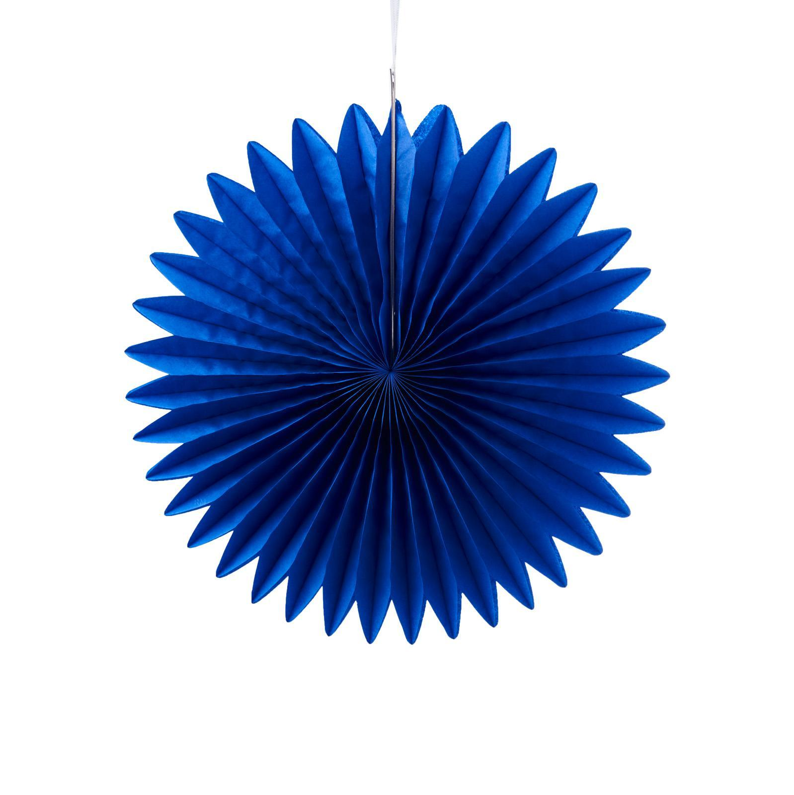 Misty Daydream Pinwheel Paper Flower Fans (15 - Royal Blue)(Small 20cm)(Normal)