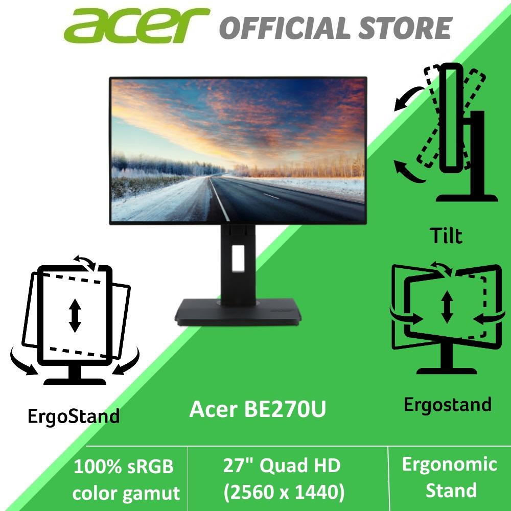 Acer BE270U 27 Inch Quad HD Monitor with 100% sRGB color gamut and Ergonomic Stand