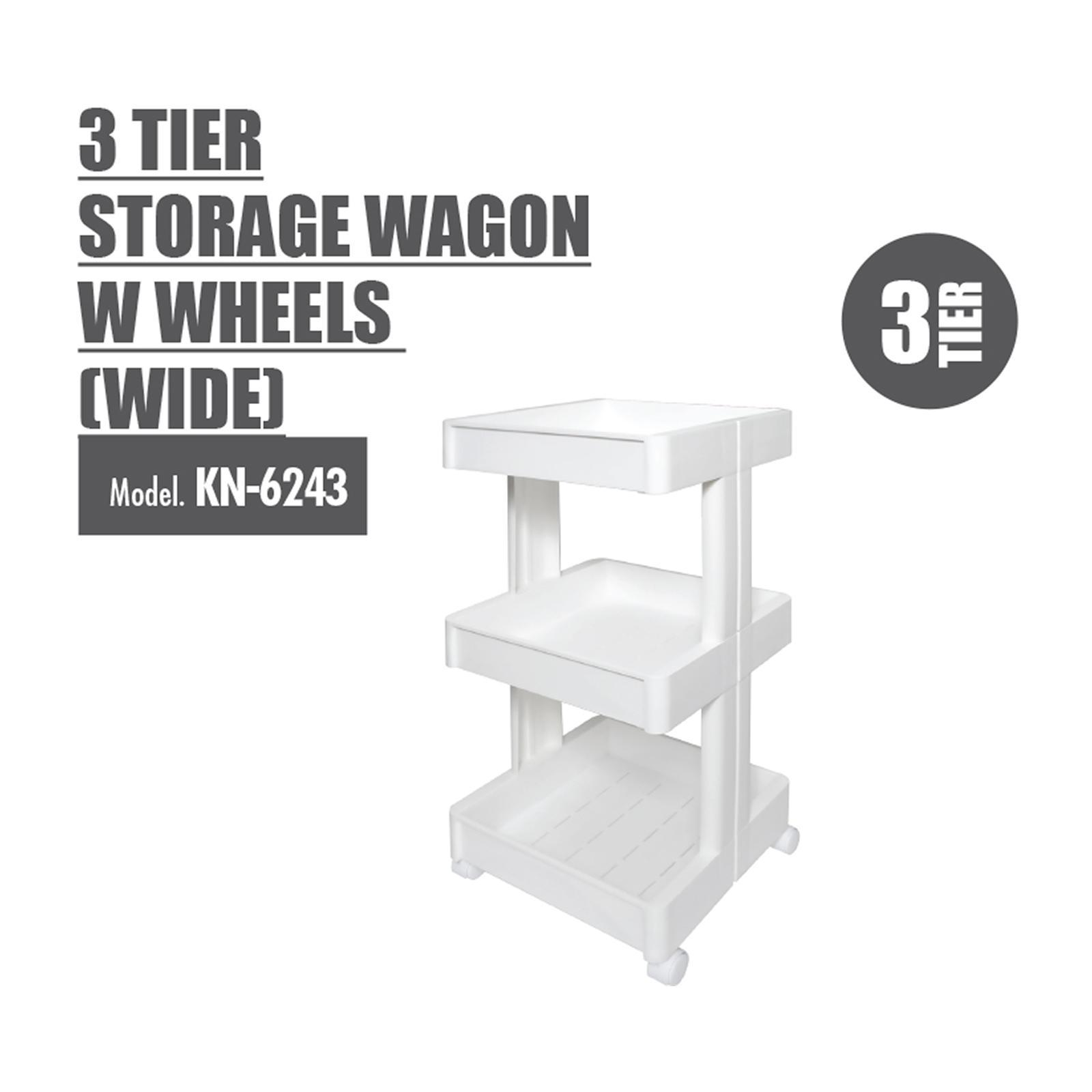 Houze 4 Tier Storage Wagon With Wheels - KN-6244-WHITE