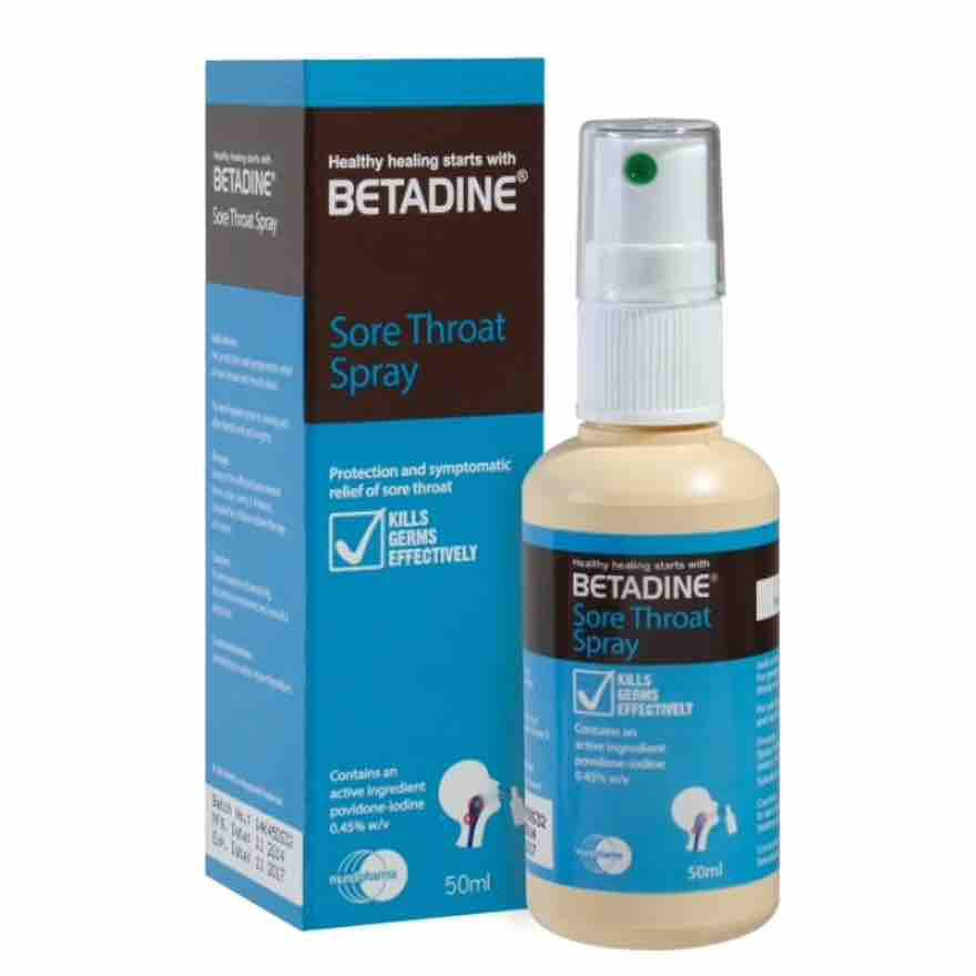 Betadine Sore Throat Spray 50ml By The Dental Pharm.