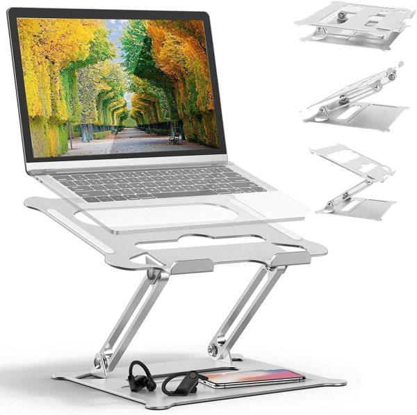 Laptop Table Stand Aluminum Stand Portable 10 to 17 inches with Heat Flow Heavy Duty