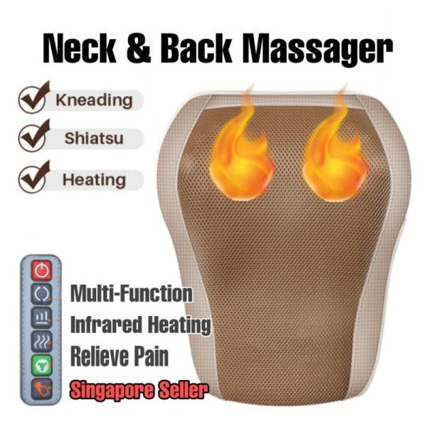 Buy Electric Body/Neck Massager Machine/Kneading Heating Massage Pillow for Back Waist (2 Colours)/Ready Stock Singapore