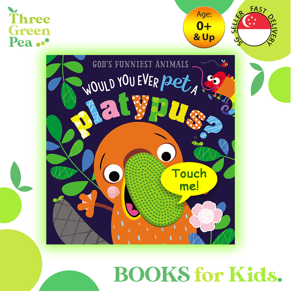 Touch and Feel Book Never Touch a Platypus Children Board Book for babies