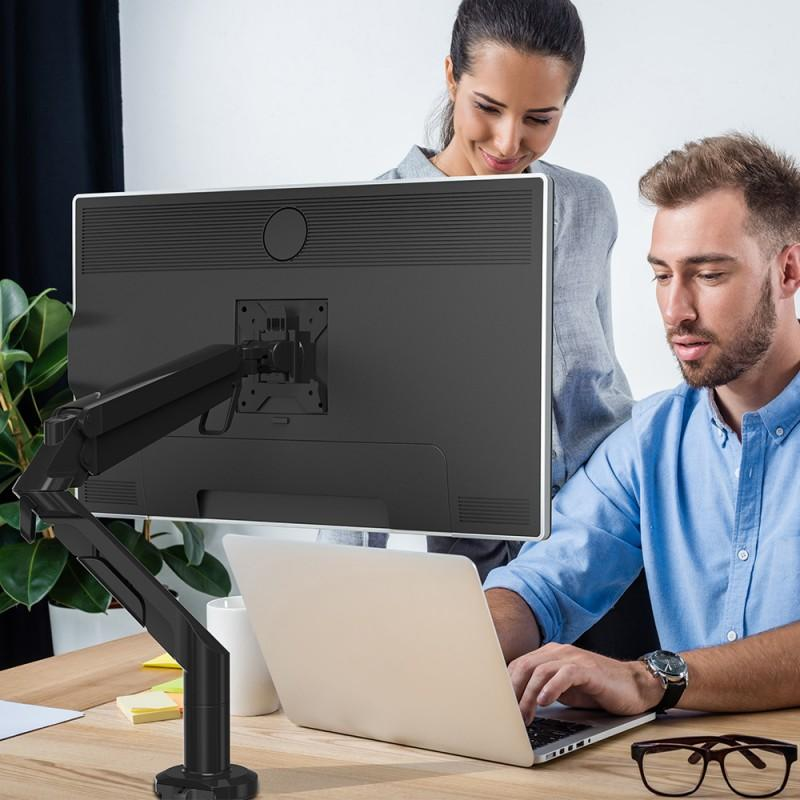 Loctek F8A Monitor Arm fits for 17- 36 inch Computer Screen Gas Spring Single Arm Desk Top Monitor Monitor (Weighing 3-12 kgs)