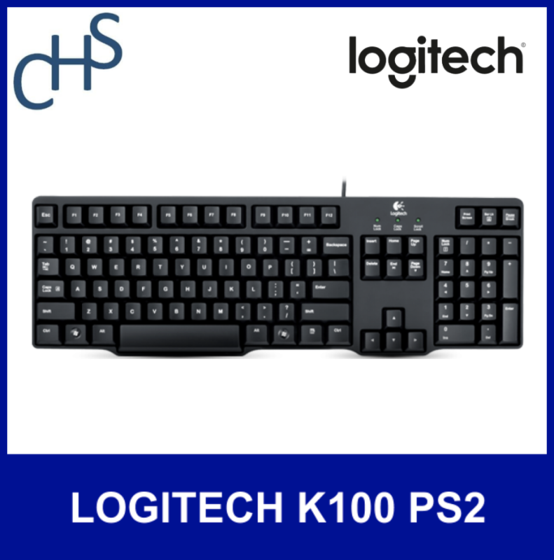(Original) LOGITECH K100 PS2 ONLY (not USB)   Compatible for Windows® 98, Windows® 2000, Windows® ME, Windows® XP, Windows Vista® or Windows® 7  3 years warranty   Singapore