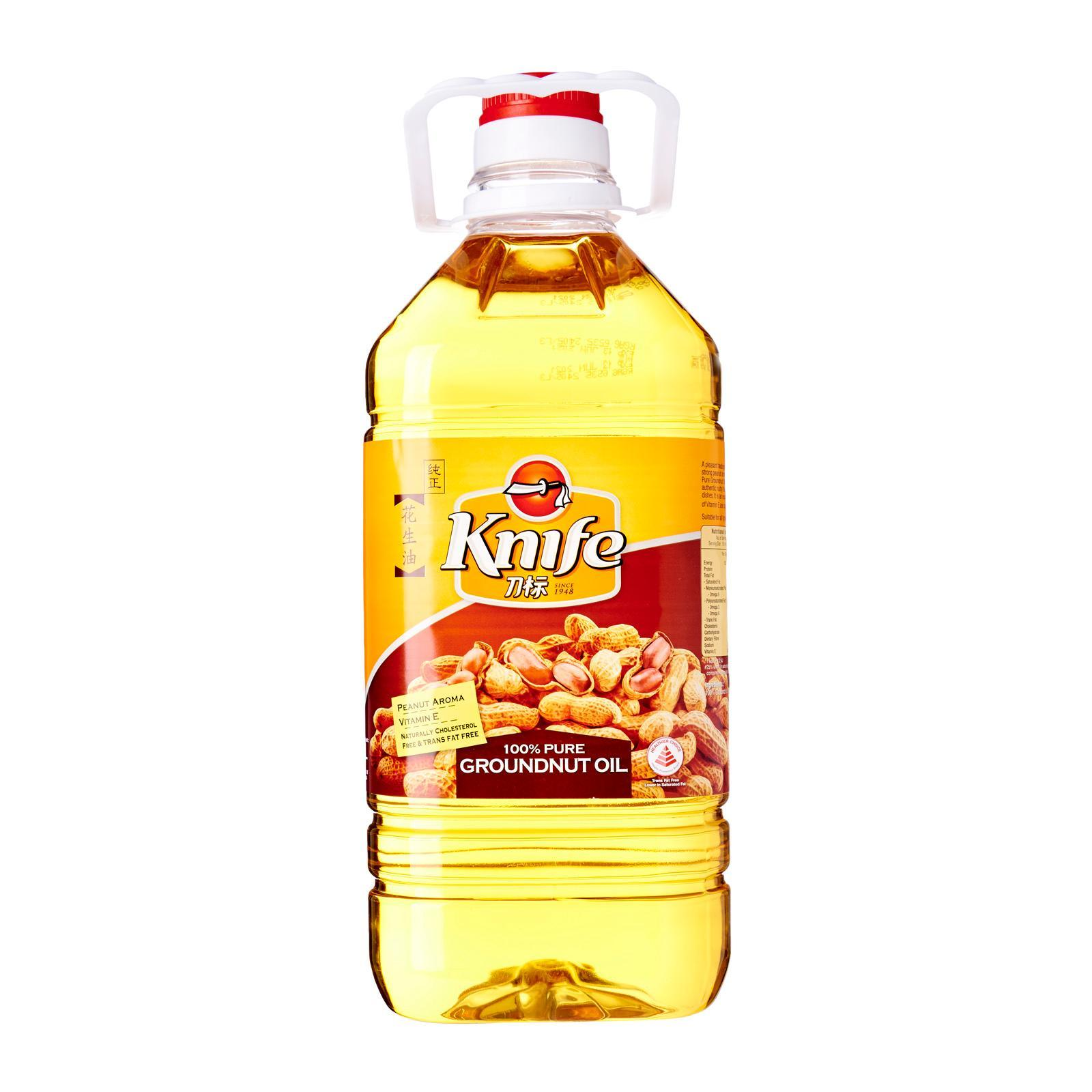 knife 100 - percent Pure Groundnut Cooking Oil