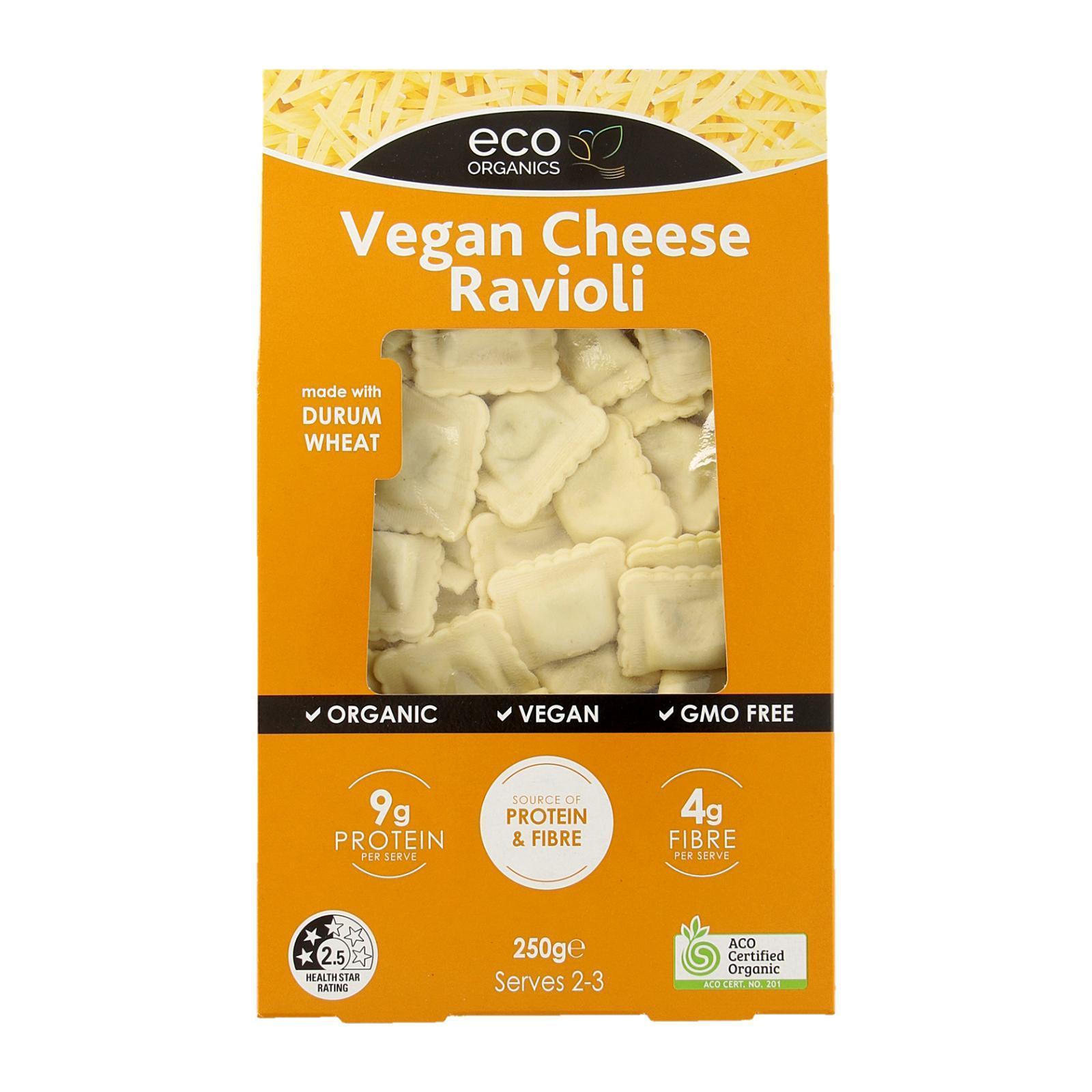 Eco Organics Vegan Cheese Ravioli Pasta - By Wholesome Harvest