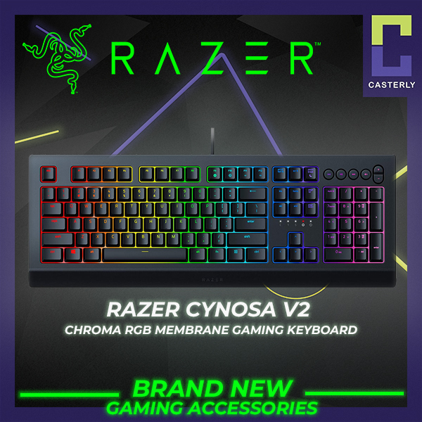 [Brand New] Razer Cynosa V2 Chroma RGB Membrane Gaming Keyboard Singapore