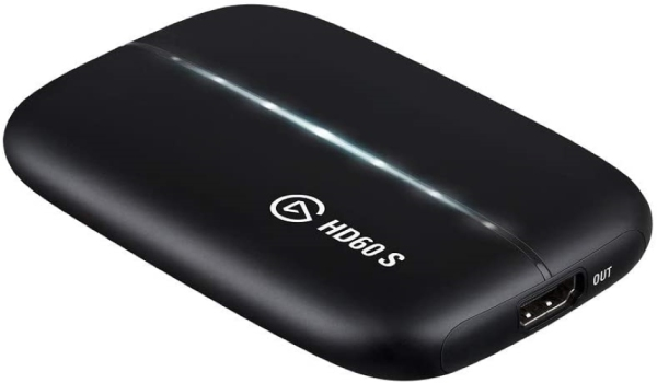 Elgato HD60 S Capture Card 1080p 60 Capture, Zero-Lag Passthrough, Ultra-Low Latency, PS5, PS4, Xbox Series X/S, Xbox One, Nintendo Switch, USB 3.0