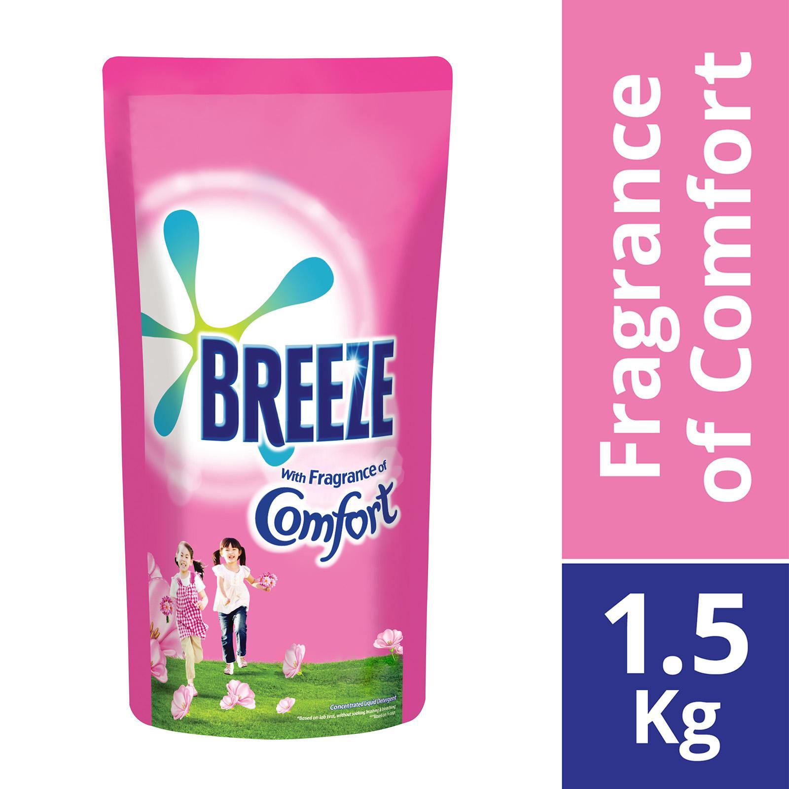 Breeze Liquid Detergent With Fragrance Of Comfort Refill