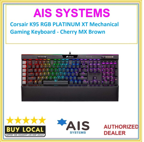 Corsair K95 RGB PLATINUM XT Mechanical Gaming Keyboard - Cherry MX Brown Singapore