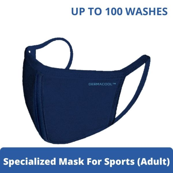 Buy Dermacool Reusable 3-Ply Sports Mask (Adult M size) [Aurigamart Authorized Distributor] Singapore