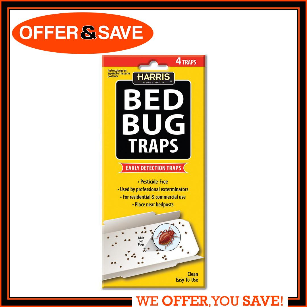 PF HARRIS BED BUG TRAPS (4Trap)  (MADE IN USA)