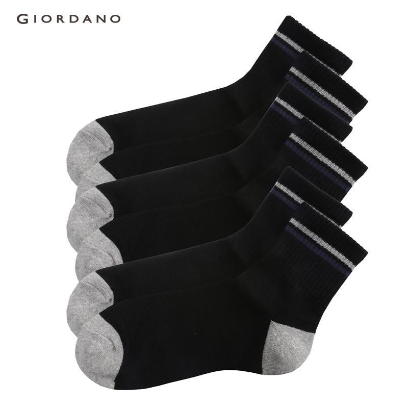 d6e2d9b760f Giordano Men Socks 3-Pack Ribbed Opening Socks For Men Casual Knee High  Breathable Socks