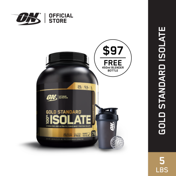 Buy Optimum Nutrition Gold Standard Isolate Protein 5 lbs Chocolate Singapore
