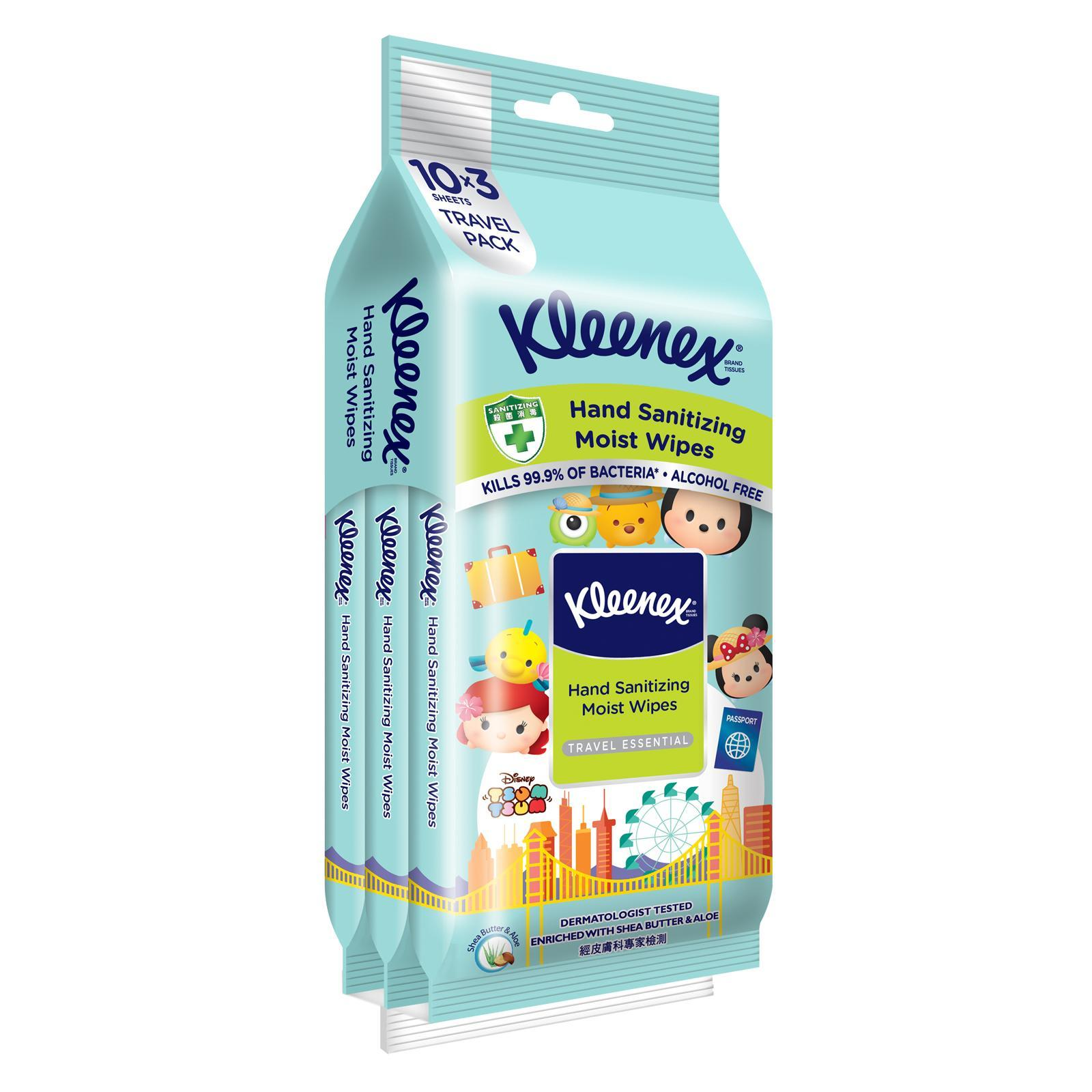 Kleenex Protect Hand Sanitizing Moist Wipes