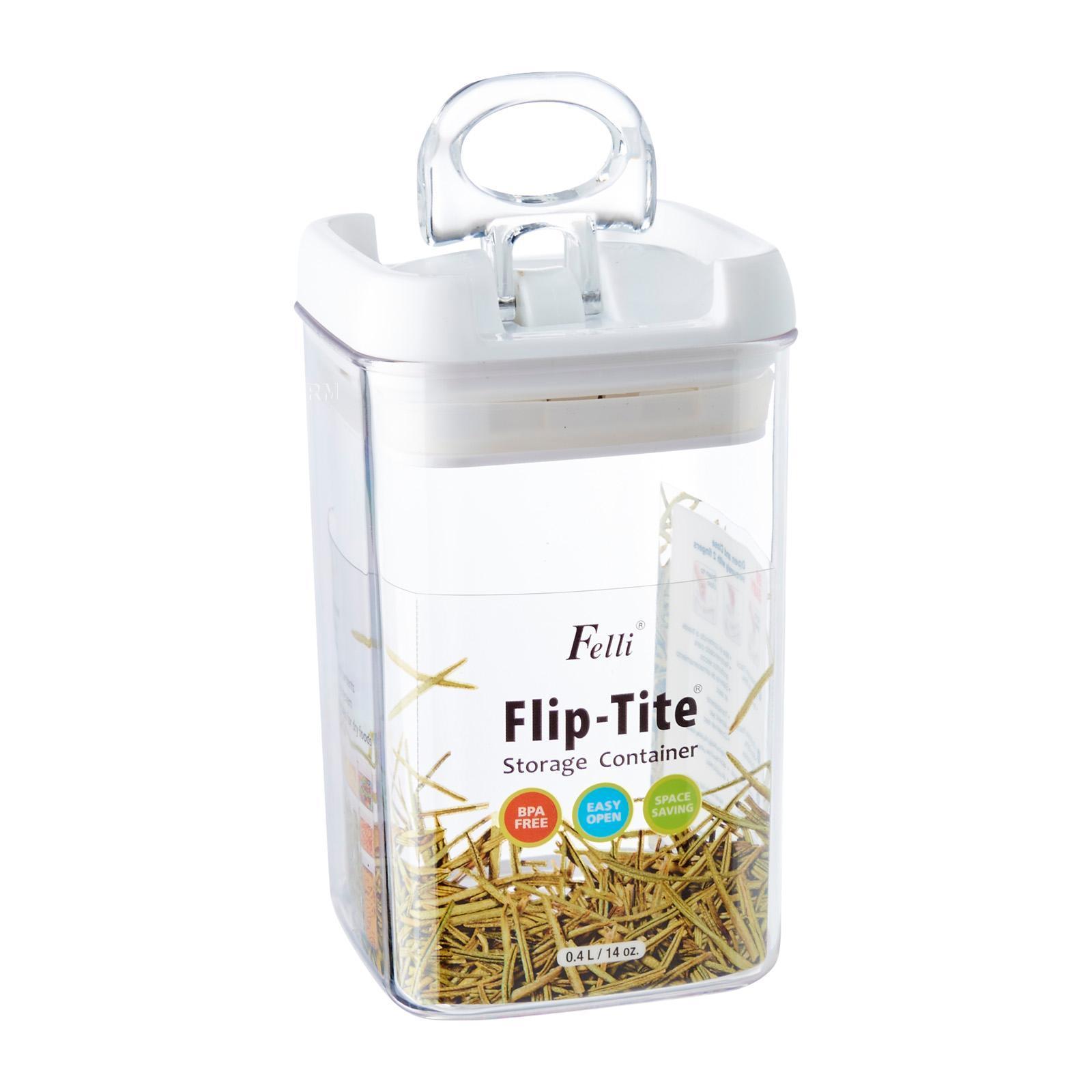 Felli Square Flip Tite Storage Container 0.4 L