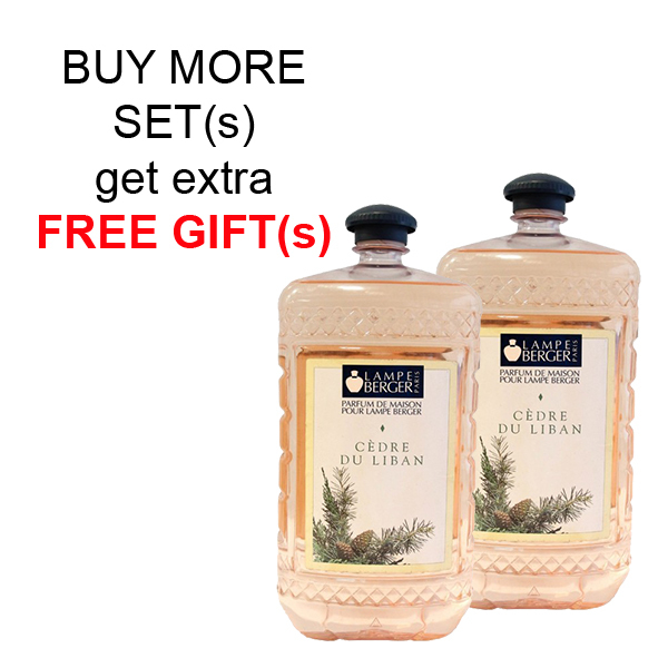 Buy LAMPE BERGER LB ESSENTIAL OIL 2L SET (2 BOTTLES) - CEDRE DU LIBAN (西洋杉) Singapore