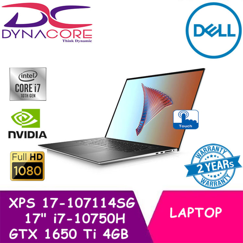 DYNACORE 【READY STOCK】 - DELL XPS 17 9700 UHD 17 4K TOUCH SCREEN i7-10750H | 16GB RAM | 1TB SSD | GTX 1650 Ti 4GB | WIN 10 HOME XPS17 | XPS 17 | XPS-17 4K