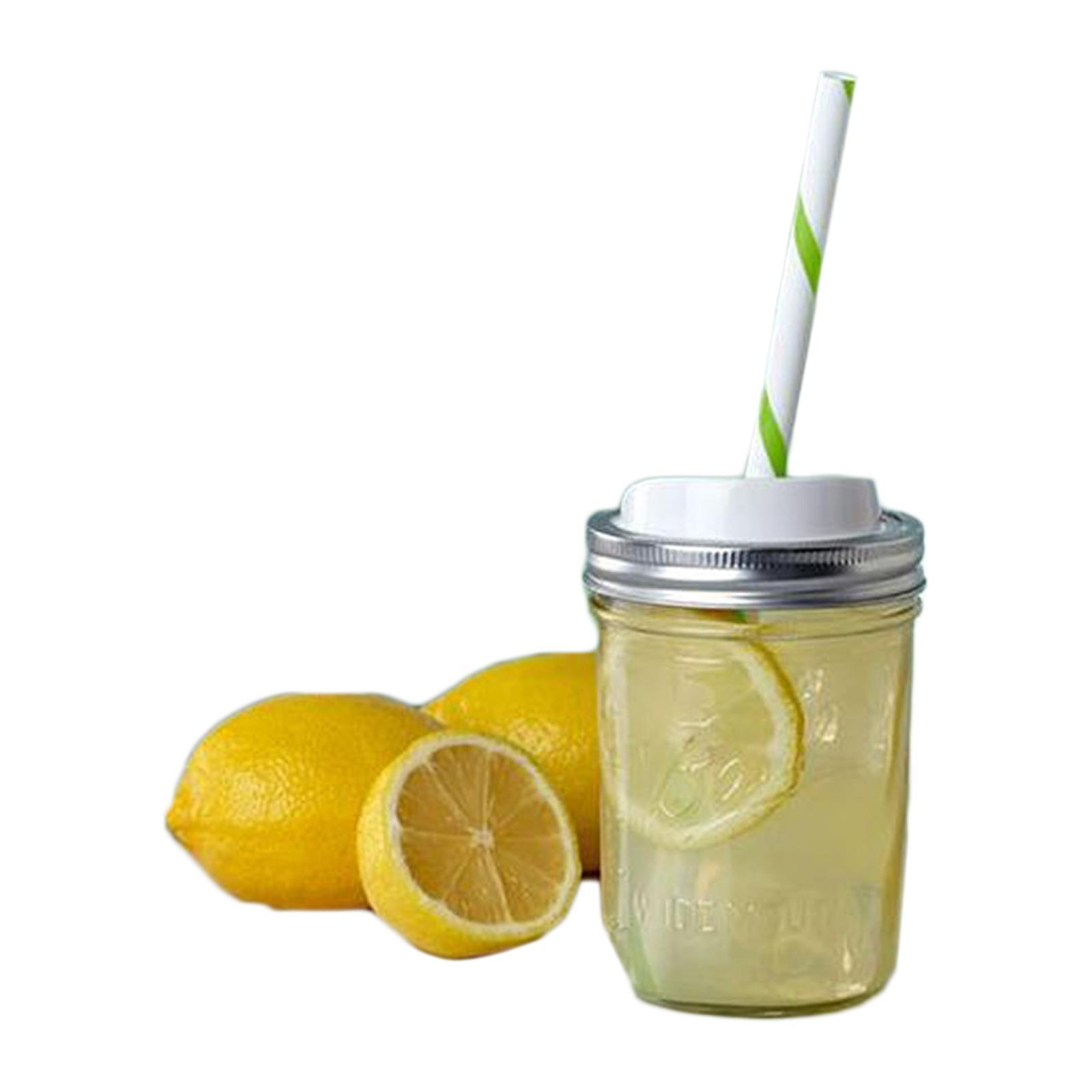 Ball Wide Mouth Pint Mason Jar With Straw And Drink Lid (16 Ounce)