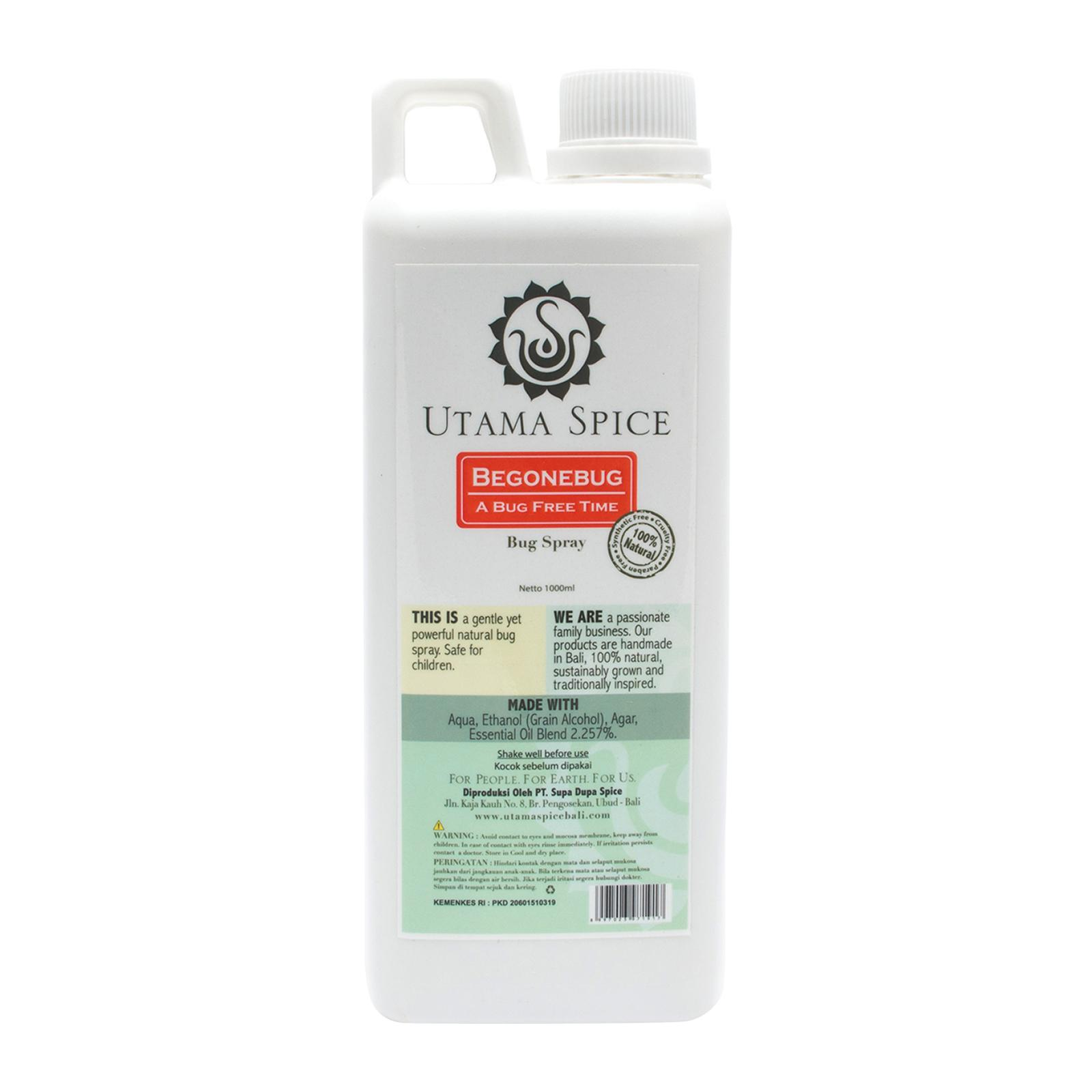 UTAMA SPICE Begone Bug Spray (1 Litre Refill) 100% Natural Mosquito Repellent