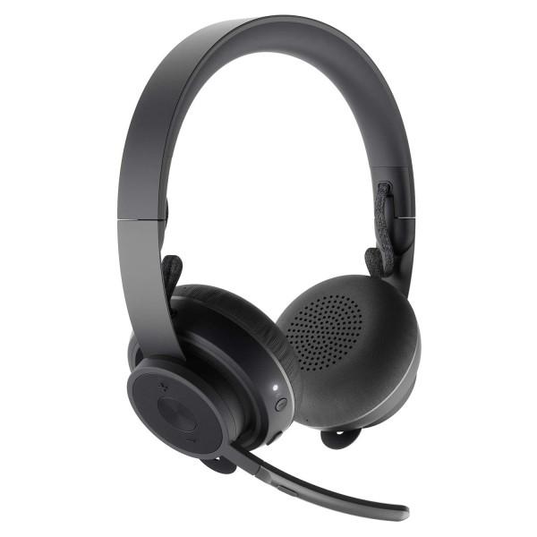 Logitech Zone Wireless Plus Bluetooth Headset Qi wireless charging Black Singapore