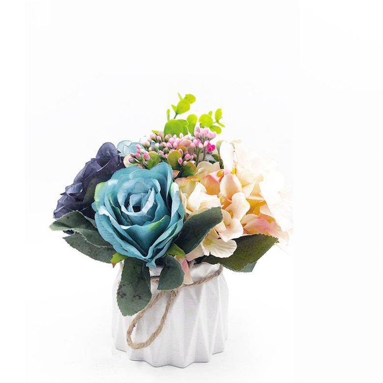 HORI Potted European and American artificial flowers Fake Flowers Wedding Office