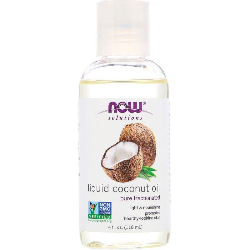 Buy Now Foods, Solutions, Liquid Coconut Oil, Pure Fractionated, 4 fl oz (118 ml) Singapore