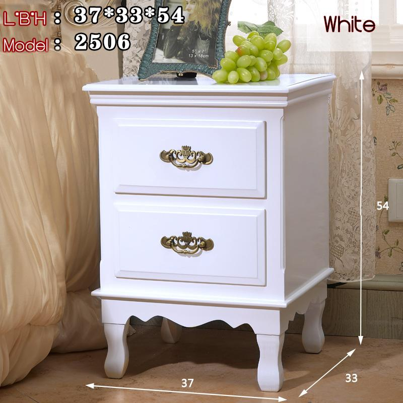 TZGX Wooden Bedside Table European Nordic stylish elegant classy modern fairy tale man woman bed room home owner HDB Condo Ivory white