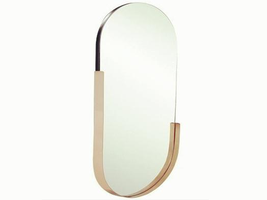 STAINLESS STEEL modern shinning gross Golden oval Mirror size 80x50cm
