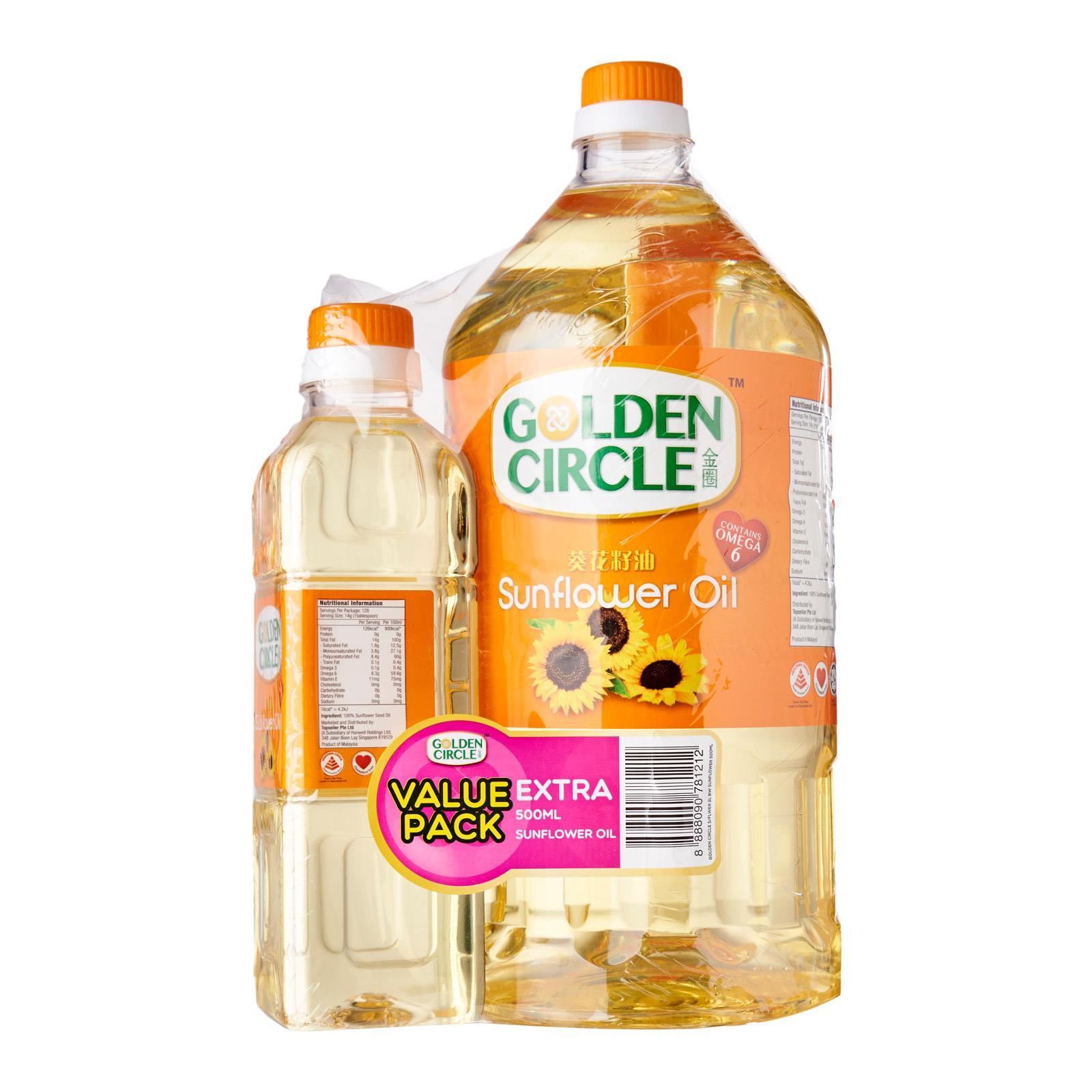 Golden Circle Sunflower Oil Banded With Sunflower 500ml