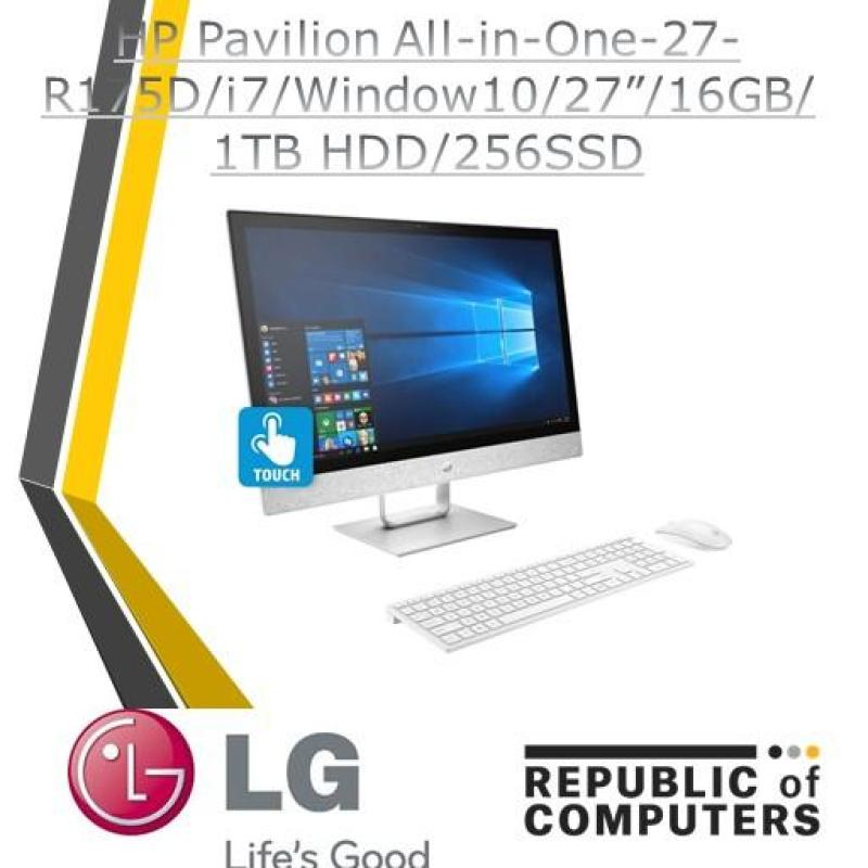 HP Pavilion All-in-One-27-R175D/i7/Window10/27/16GB/1TB HDD/256SSD