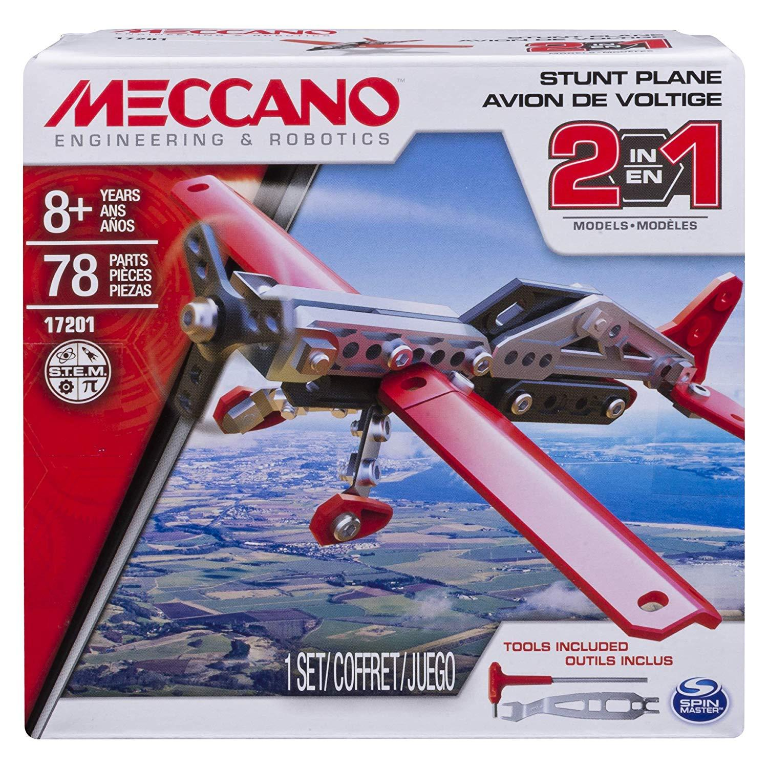 Meccano 2-In-1 Model - Stunt Plane By Bunnybox.