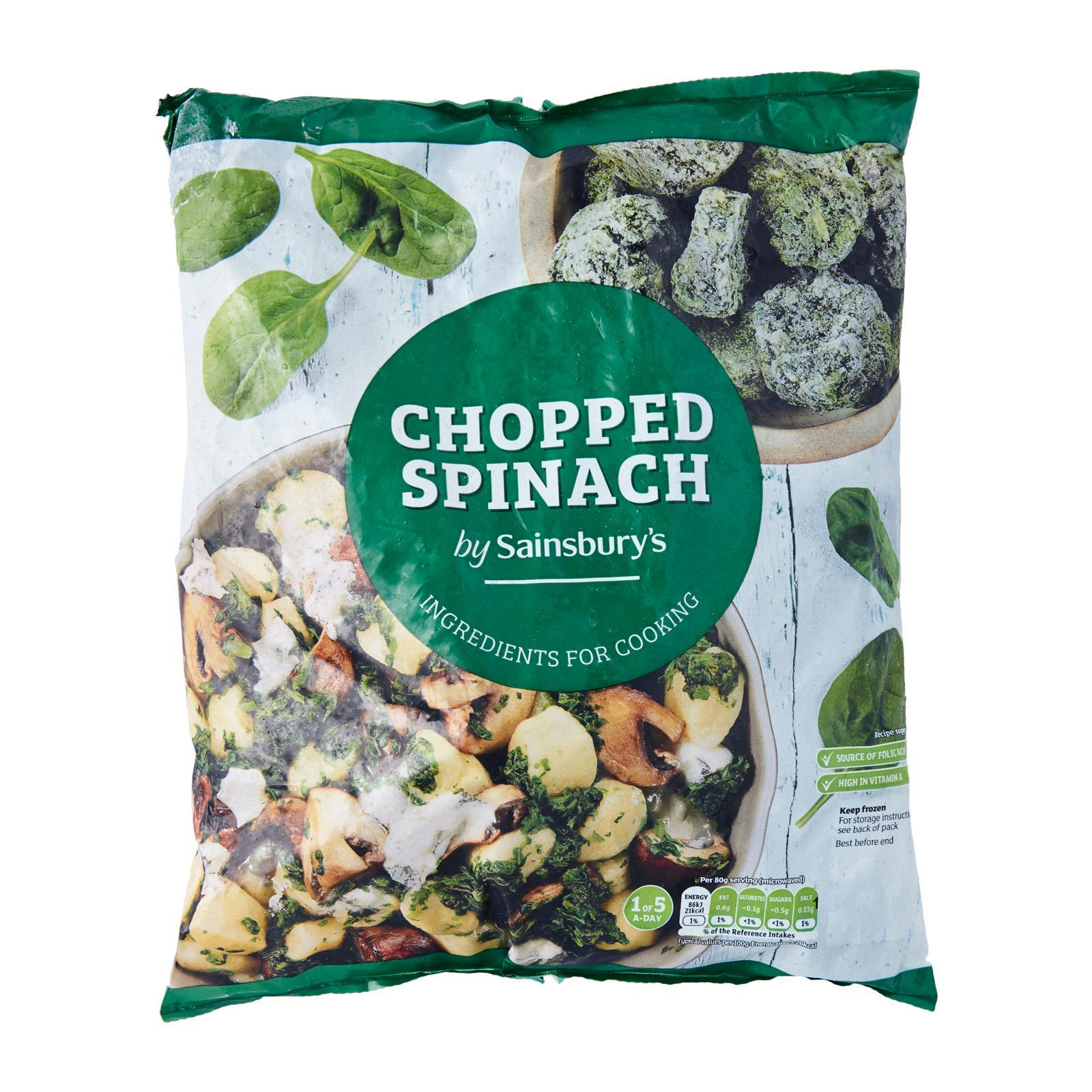 Sainsbury's Chopped Spinach - Frozen