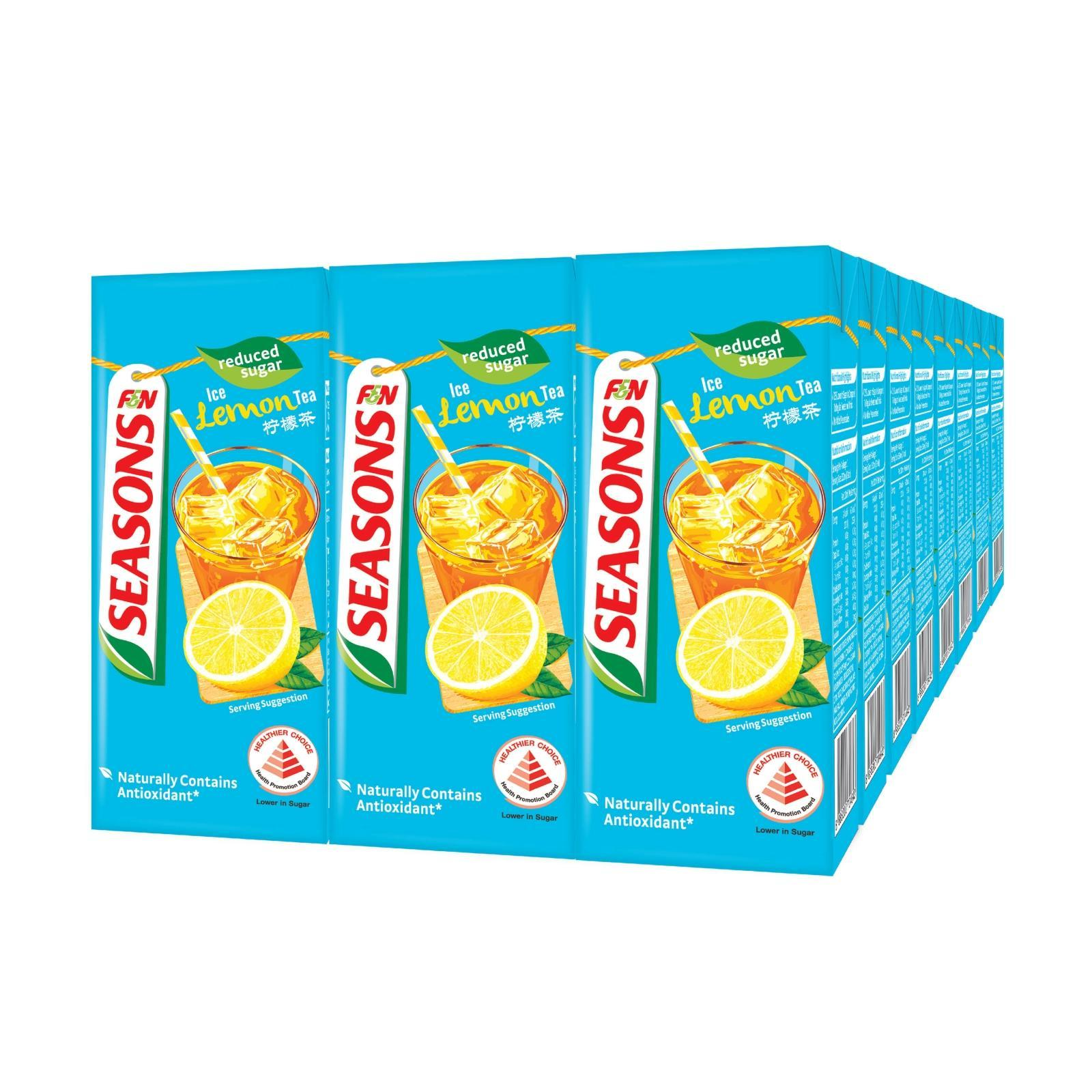 F&N Seasons Ice Lemon Tea Reduced Sugar - Case