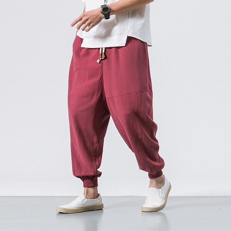 fc4a1e617c0931 2019 New Arrival Mens Casual Pants Warm Fleece Pant Trousers Elastic Waist  Plus Size Men Jogger