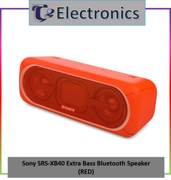 Sony SRS-XB40 Extra Bass Waterproof Wireless Speaker - T2 Electronics Singapore