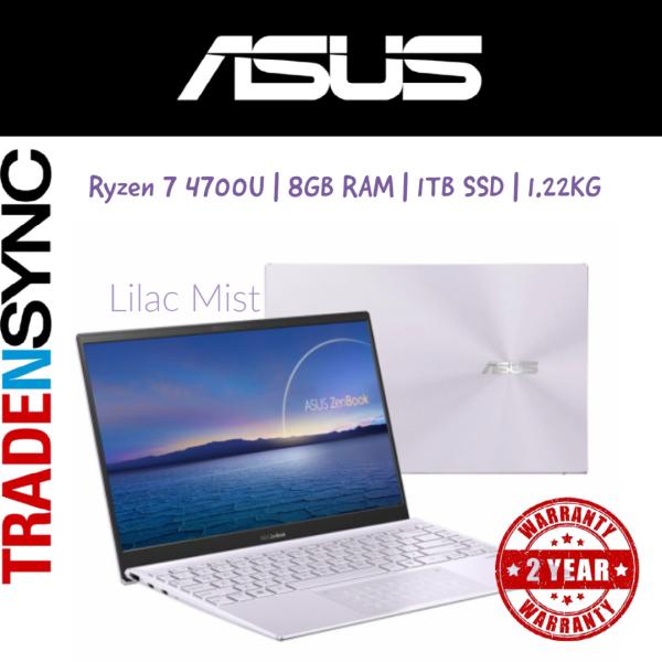 ASUS ZenBook | UM425IA-AM082T | Lilac Mist | Ryzen 7 4700U | 16GB RAM | 512GB SSD | 1.22KG | up to 10hr battery life | AMD Radeon Graphics | 14 FHD IPS Screen | WIFI-6 | 2yr warranty  | Other Options UM425IA-AM092T