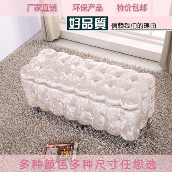 Storage Stool Storage Chair Bedroom Bed Clothing Cabinet Sofa Stool Clothes Clothing Store Bench Shoes of throw pillow Small Stool