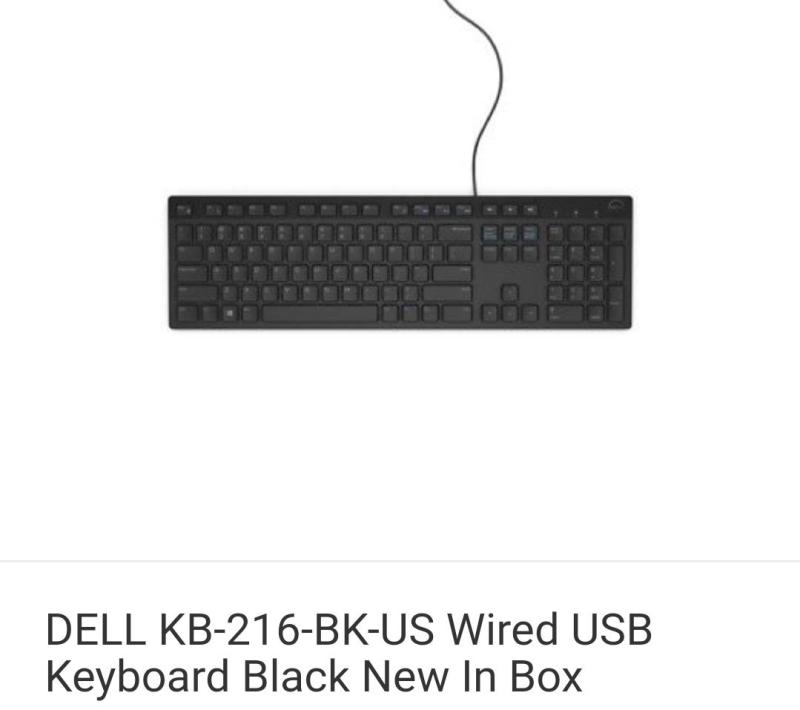 Dell KB216-BK-US Slim MultiMedia USB Wired Keyboard New